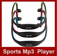 Wholesale Wireless Sport MP3 Player Wrap Around Headphones Digital with TF card slot Green Blue Red Colors