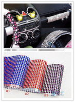 Wholesale Freeshipping sheet Hot Pink Crystal Sticker Jewelry Seal Stick for Mobile Phone Car Decor