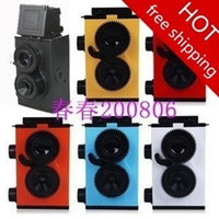Lomo  Fixed Focus On sales!!!Retro LOMO dual lens camera quality goods adult science send Tool + double rope 10pcs DHL