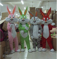 Wholesale Adult Costumes Apparel Bugs Bunny Costumes Mascot Adult Cartoon Mascot Performance Cute Cartoon Rabbit character Adult Performance Mascot
