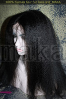 asian jets - Full Lace Wig quot Indian Remy Human Hair jet black Kinky Straight Wigs Free UPS