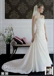 Wholesale 2012 BRIDAL Taffeta draped A line gown Style T9579