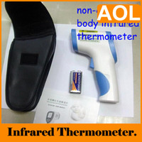 Wholesale 5PCS IR Thermometer Non Contact Digital Infrared Laser C Clinical Termometer LCD GOOD