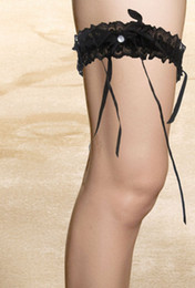 Wholesale New Fashion Lovely Ruffles Party Black Sexy Garter High Quality