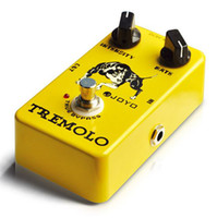 Wholesale JOYO JF Electric Tremolo Guitar Bass Effect Pedal True Bybass Photoelectric Tube Circuit
