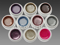 Wholesale 10 Colors Mix Colour Glitter Nail Art UV Builder Gel Kit Set