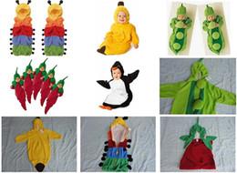 Wholesale Retail styles Newborn Baby sleeping bag caterpillar pea banana pengiun chilli sleeping bags