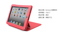 Wholesale new computer protective leather shell leather ipad2 computer protection shell red leather ipad2 p