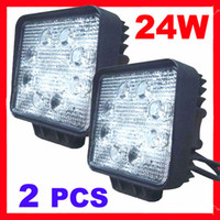 Wholesale 2pcs v w LED Work Light Watt Driving Light Offroad Lamp Wide Flood Beam Truck SUV ATV