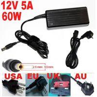 Wholesale 60W V A AC DC Power Supply Adapter Charger V V for LED Light Strip have EU US AU BS Plug