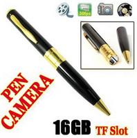 2012 penna nascosta video sorveglianza Camera Recorder DV Camcorder 720 * 480 30fps slot per schede TF 16GB DVR