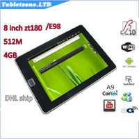 Wholesale Zenithink E98 inch Android Tablet PC ARM Cortex A9 GHZ GB MB WIFI Camera HDMI G