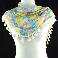 Printed Short Dobby Top wholesale fashion flower print scarves with charming oversized peony mixed color print,NL-1518H