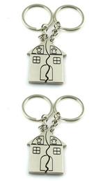 Amour clé de la maison clés add-ons Couple bébé et fille porte-clés porte-clés porte-clés anneau Noël à partir de keyring couple maison fournisseurs