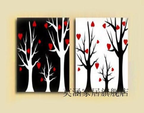White on Black Canvas Paintings Huge Canvas Oil Painting