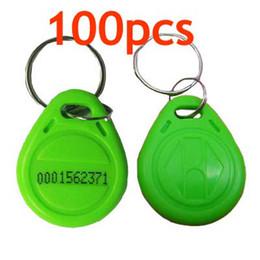 Token de tarjeta de identificación en venta-RFID de proximidad ID Token etiqueta clave de anillo 125Khz RFID tarjetas verde 100pcs / lot