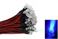 Wholesale 5mm Blue V V DC Pre Wired LED Leds CM