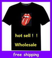 Wholesale Flashing DJ Sound Music BAND EL LED T SHIRT equalizer