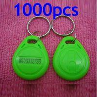 Precio de Token de tarjeta de identificación-RFID ID de proximidad Token Tag Llavero 125Khz RFID tarjetas Verde 1000pcs / lot