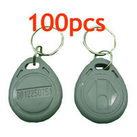 Precio de Token de tarjeta de identificación-RFID Proximidad ID Token Tag Llavero 125Khz RFID tarjetas Gris 100pcs / lot