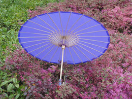 Wholesale hand made inches plain color wedding parasols Chinese imitation pongee parasols