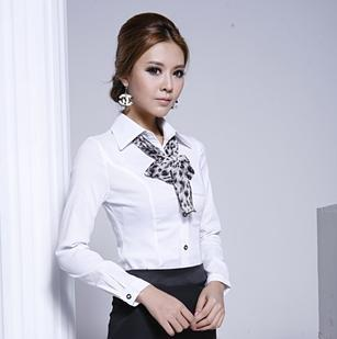 2014 autumn long-sleeve women's career shirt elega