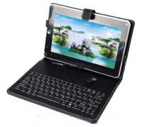 Wholesale 10 Inch Keyboard Kick Stand Case for Android Tablet PC with Stylus Mini USB Port laptop MID