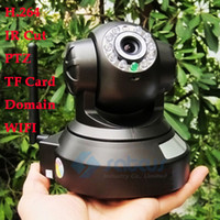 Wholesale Wireless IP Camera CCTV Wifi BGN PTZ IR H TF Memory SD card storage IR CUT Security Surveillance