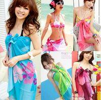 Wholesale 2012 Scarf Bikini Beach scarves Veil Wrapped yarn Beach towel Wrap skirt Scarf Swimsuit veil