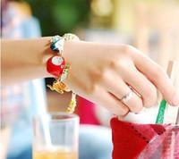 Wholesale 2012 new popular childlike Korean fashion lovely bracelet fruits diamond crystal bracelet women