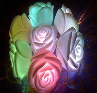Beautiful Romantic Rose Flower Led Night Light Automatic Col...