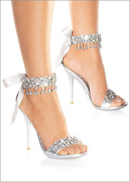 Wholesale 2012 High heels silver Rhinestone Shoes wedding shoes for Bridal Shoes