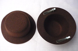 Wholesale NEW Plain Mini Top Hat DIY Fascinator Brown