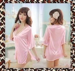 Wholesale 2in1 sleepshirt G string hot sexy spicy undewear lingerie babydoll teddy G string sleepwear pink