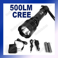Wholesale 500 Lumen Mode CREE Q5 LED Flashlight Torch CREE Light Made Of Metal with Charge In US Plug