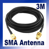 Wholesale 3M Antenna RP SMA Extension Cable WiFi Wi Fi Router Plug Directly Hot Sale