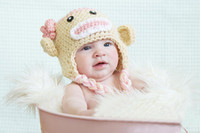 Wholesale Crochet Sock Monkey Baby Hat in Spring Colors Crochet Baby Photo Prop Custom made fit for Month