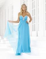 Sheath/Column Modern Beads new Prom Dresses Aqua Chiffon Rhinestone Strapless Sweetheart Prom Dress