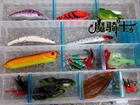 Wholesale Minnow Frog Spoons Spinner Baits Soft Craw Worm Fishing Lure Tackle Box M0002