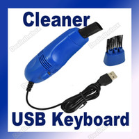 Wholesale MINI USB Vacuum Keyboard Cleaner for PC Laptop Computer NEW Two Vacuum Cleaning Attachments