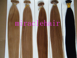 Wholesale t quot g g s stick I tip prebonded hair extensions INDIAN REMY black brown blond