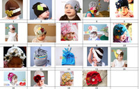 Wholesale Top Baby hats girls hat boy s hat headband fashion caps flower beanie caps