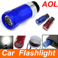 Wholesale Mini LED Flashlight car cigarette rechargeable w LM Car Cigarette lighter LED Light