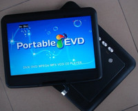Wholesale quot DVD Player portable LCD swivel screen mulitmedia VCD DVD USB SD GAME FM TV
