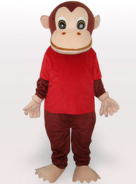Wholesale Red Gorilla Adult Mascot Costume eb60