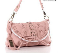 Wholesale Bohemian lace woman Messenger bag drawstring bow shopping bag Color discount