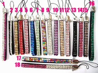 Wholesale Bling Bling Crystal Rhinestone Hand Strap Lanyard for Mobile cell phone