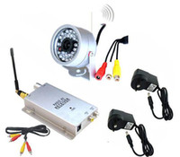 Wholesale 1pcs Wireless SPY LED IR Night vision Video Audio CCTV Color Security CCTV Outdoor Camera