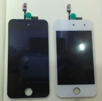 Wholesale 2012 For iTouch th Gen Front LCD Display Screen Digitizer Glass Screens White black NEW