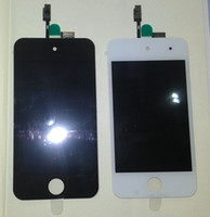 Wholesale 2012 Hot sale For iTouch th Gen Front LCD Display Screen Digitizer Glass Screens White black NEW